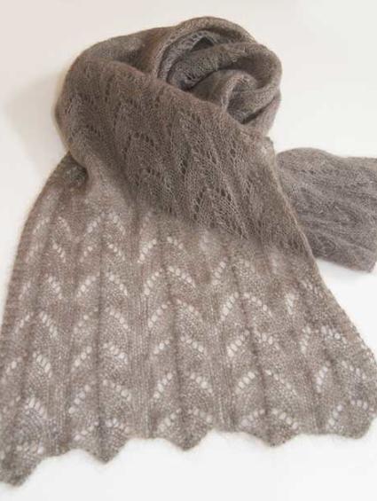 Zarte Schals aus Silkhair – ein Kid-Mohair mit 30% Seidenanteil. Ganz leicht und trotzdem wärmend.